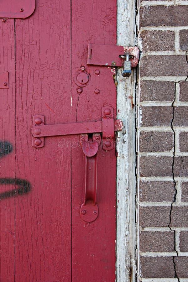 Download Padlocked red door stock image. Image of building, doorway - 14506347