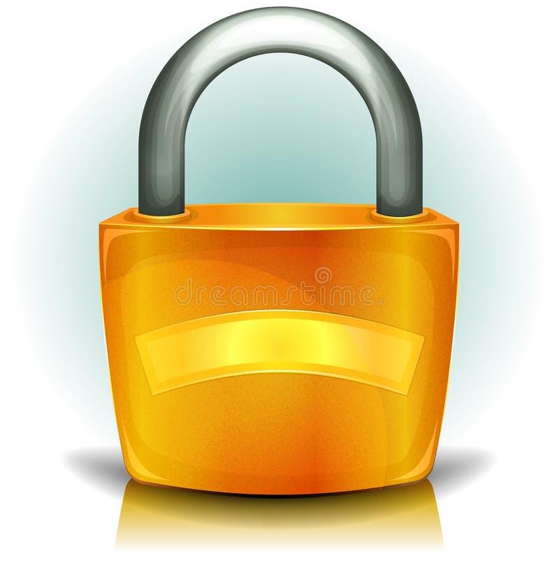 Download Padlocksäkerhetssymbol stock illustrationer. Illustration av reflexion - 27282242