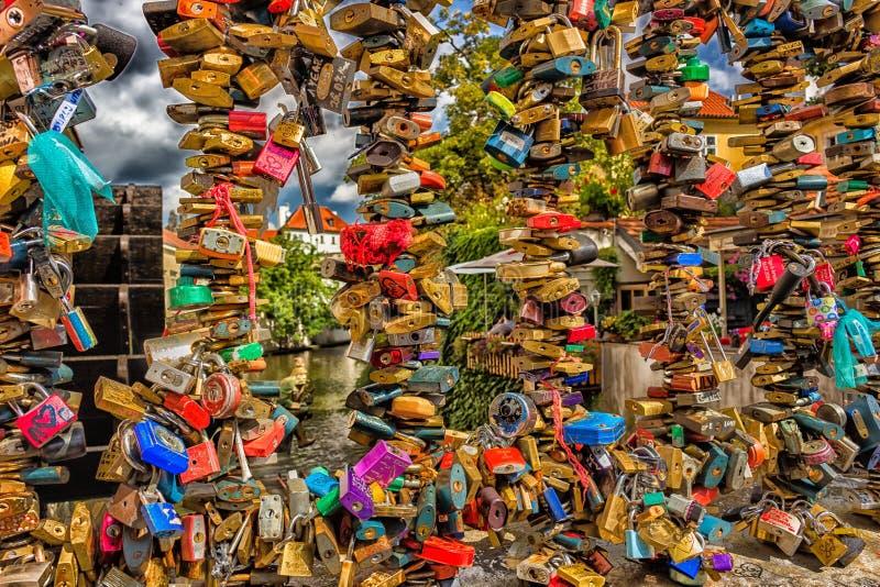 Padlocks в Праге стоковые изображения