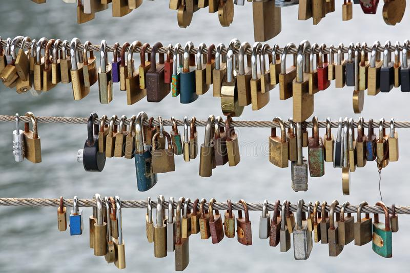 padlocks fotografia stock
