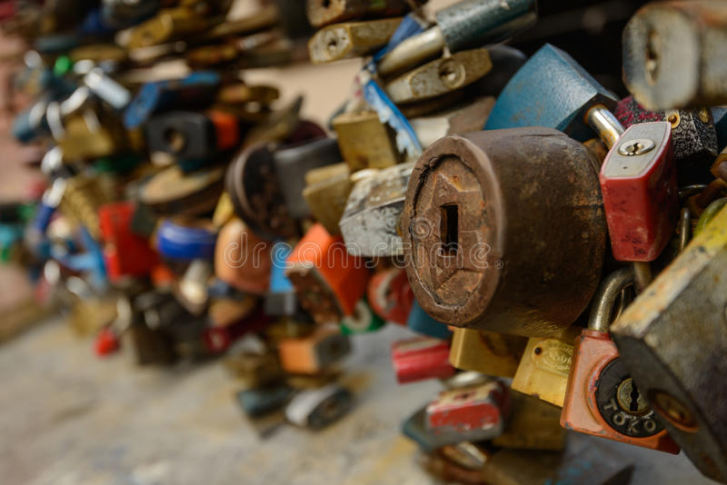 padlocks fotografia stock
