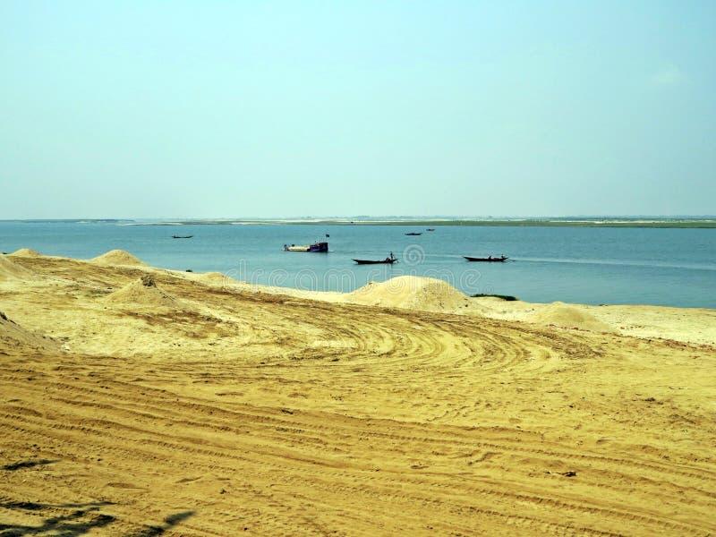 Padma River en Kushtia, Bangladesh foto de archivo libre de regalías