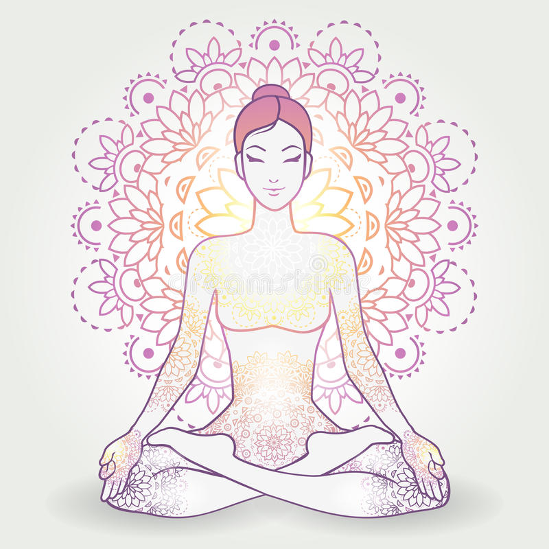 Padmasana Decoration vector illustration
