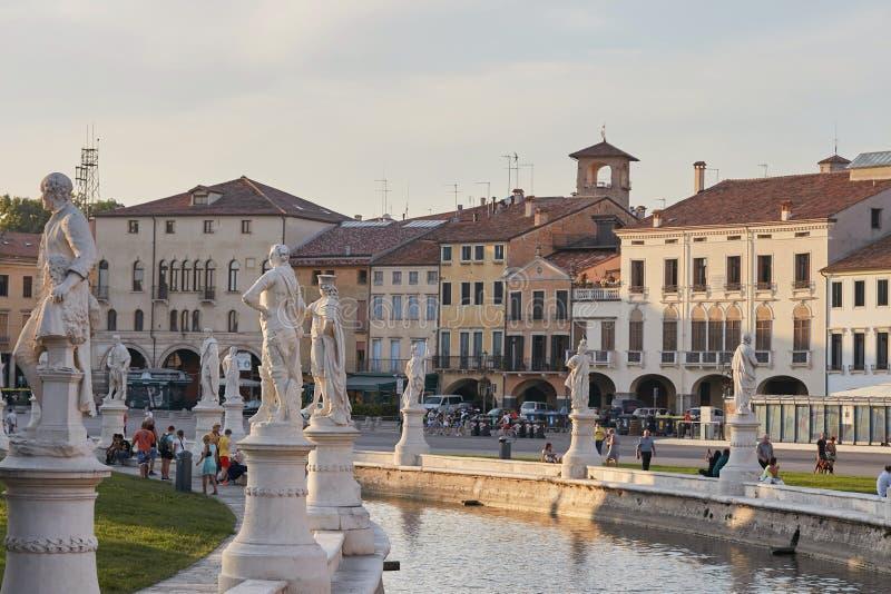Padoue, Italie - 24 août 2017 : Della Valle de Plaza de Prato à Padoue image libre de droits