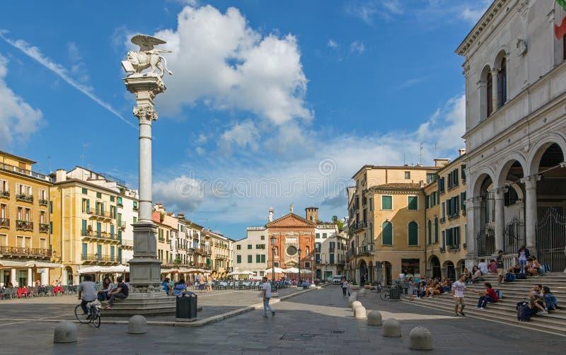 PADOUE, ITALIE - 10 SEPTEMBRE 2014 : Place de Signori de dei de Piazza image stock