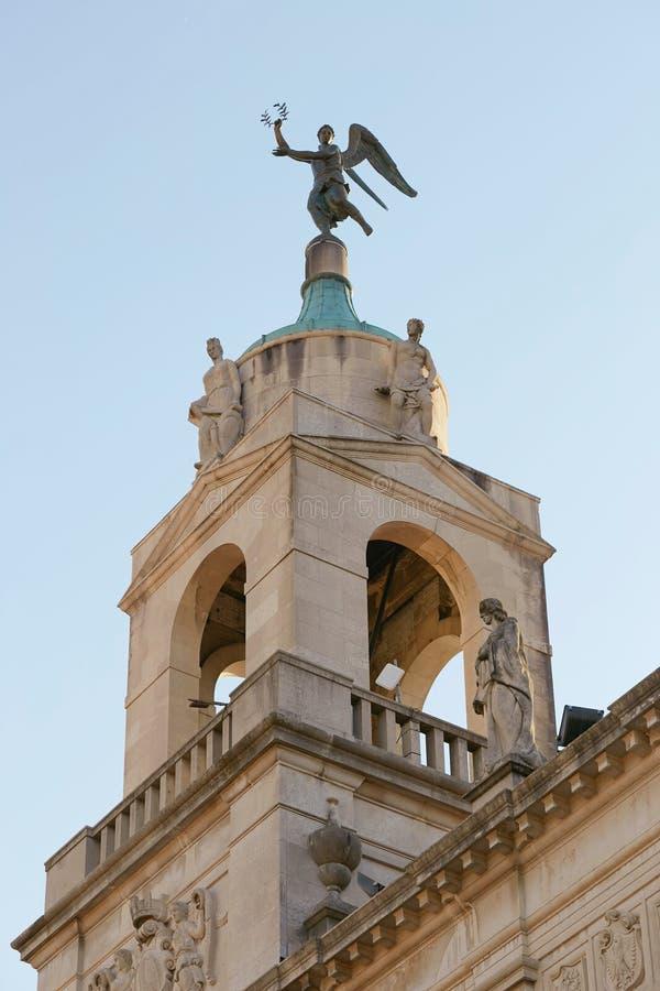 Padova Italien - Augusti 24, 2017: Stad Hall Building Padova royaltyfria foton