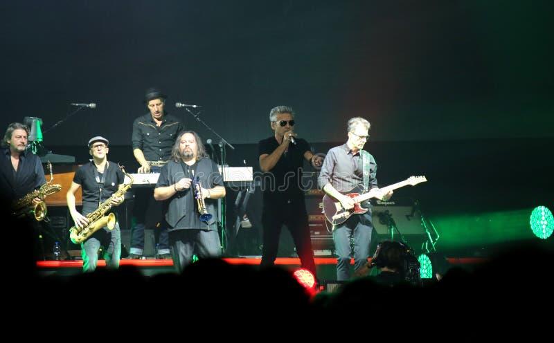 Padova, PD, Italy - October 20, 2017: Live Concert of Luciano Li. Padova, PD, Italy - October 20, 2017: Live Concert indoor of Luciano Ligabue an Italian singer stock photos