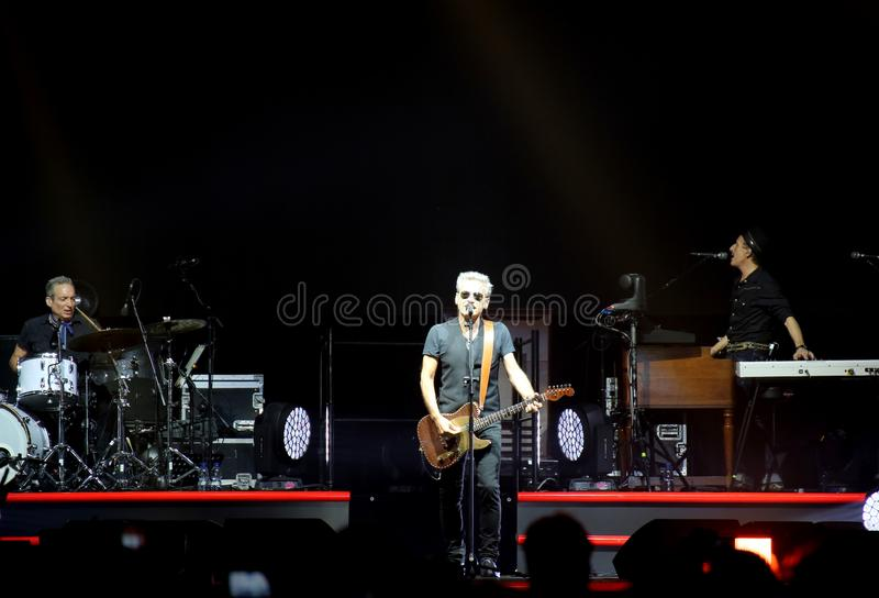 Padova, PD, Italy - October 20, 2017: Live Concert of Luciano Li. Padova, PD, Italy - October 20, 2017: Live Concert indoor of Luciano Ligabue an Italian rock stock images