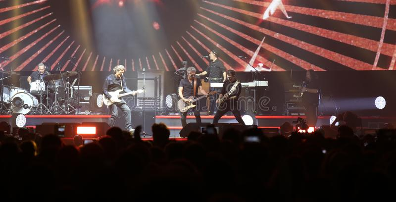 Padova, PD, Italy - October 20, 2017: Live Concert of Luciano Li. Padova, PD, Italy - October 20, 2017: stage of Live Concert indoor of Luciano Ligabue a famous stock photos