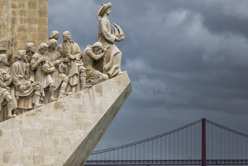 Padrão DOS Descobrimentos - monument av de portugisiska upptäckterna royaltyfria foton