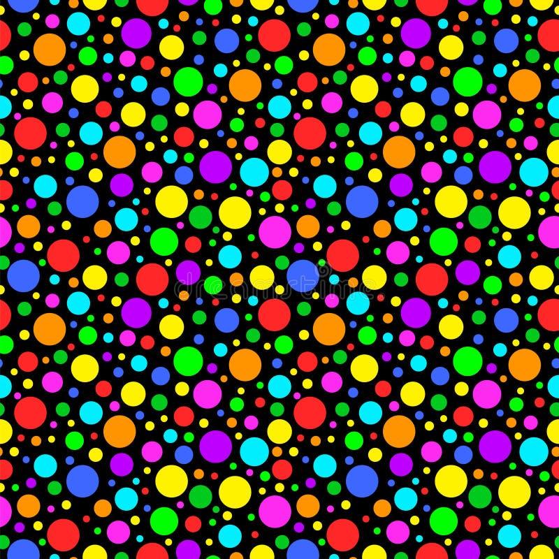 Padrão colorido transparente do carnaval do vetor Crianças com antecedentes festivos com confete Parabéns, festa decor ilustração royalty free