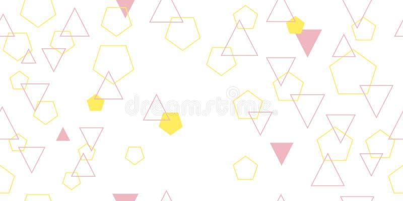 Padrão constante de triângulos e pentágonos diferentes Ilustração vetorial imagem de stock