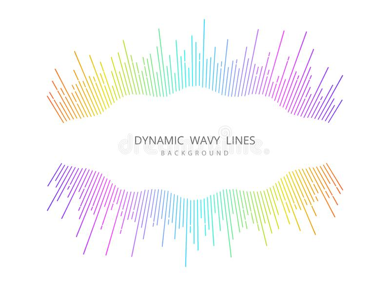 Padrão de cobertura colorido padrão de desenho do padrão de onda de música abstrato vetor de ilustração eps10 ilustração royalty free