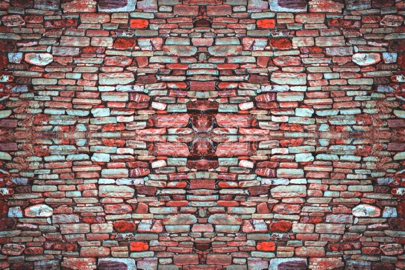 Padrão de Fundo Muro de tijolo Parede Parede de Telhado Ornamento do Vetor de Impressão Modelo Wallpaper fotografia de stock