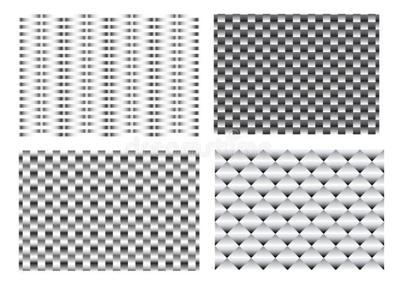 Padrão de metal de tecelagem 3D sem costura para vetor de textura ilustração do vetor