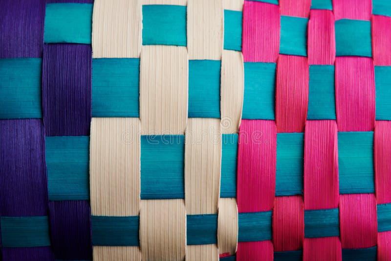 Padrão de nós coloridos fotografia de stock