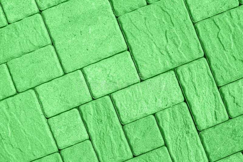 Padrão de pavimento diagonal em verde claro imagem de stock royalty free