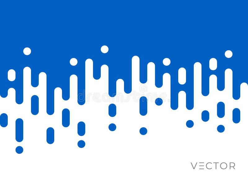 Padrão de transição de linha, textura geométrica abstrata irregular, desenho gráfico digital criativo de vetor Azul e branco ilustração royalty free