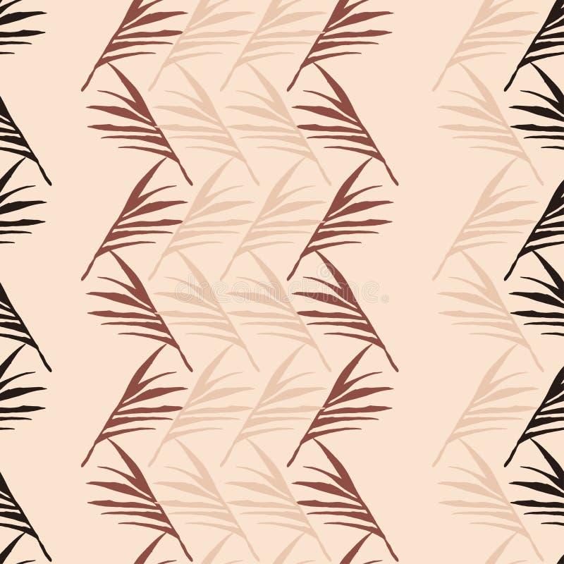 Padrão de Vetor Tropical Funky Sem Olhos Moda de Verão fina Monstera Dandelion Feather Banana Folha ilustração royalty free