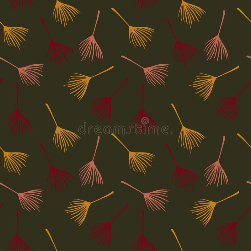 Padrão de Vetor Tropical de Trendy, Sem Olhos Malho Elegante Textura de vestimenta feminina Malha de Verão Fria Porta ilustração do vetor