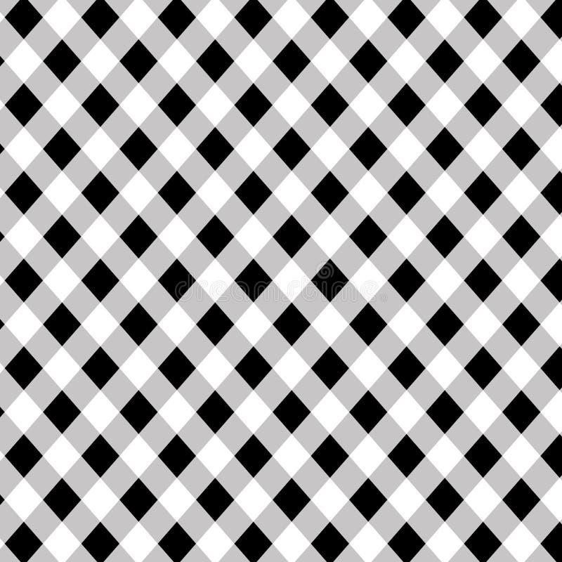 Padrão diagonal do búfalo preto e branco ilustração stock