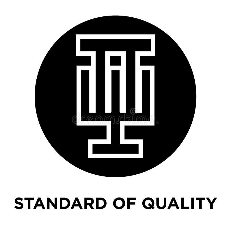 Padrão do vetor do ícone da qualidade isolado no fundo branco, lo ilustração do vetor