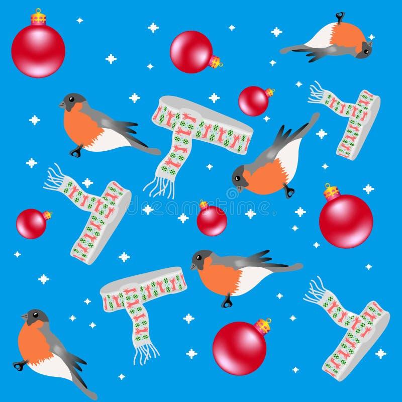 Padrão natalício com touchetes e escarpas fotos de stock