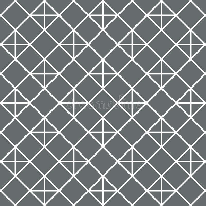 Padrão vetorial, forma geométrica de diamante linear e cruzamento ilustração do vetor