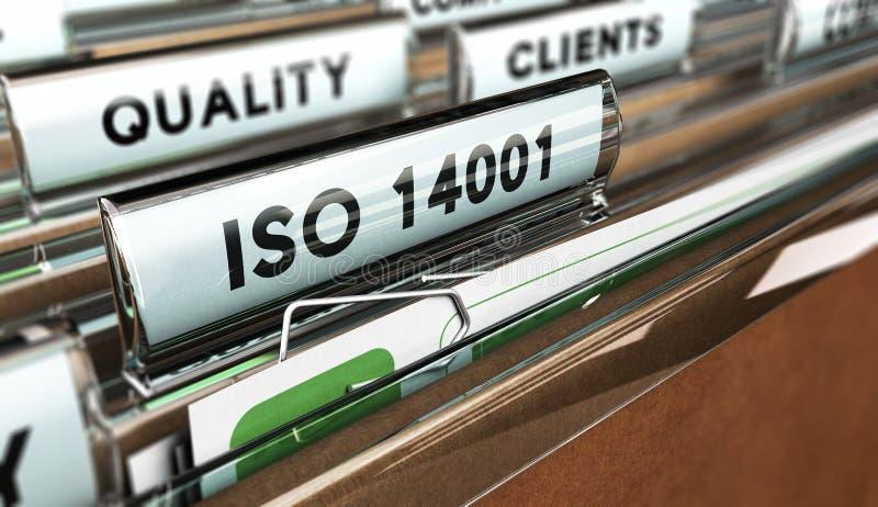 Padrões de qualidade, ISO 14001 ilustração stock