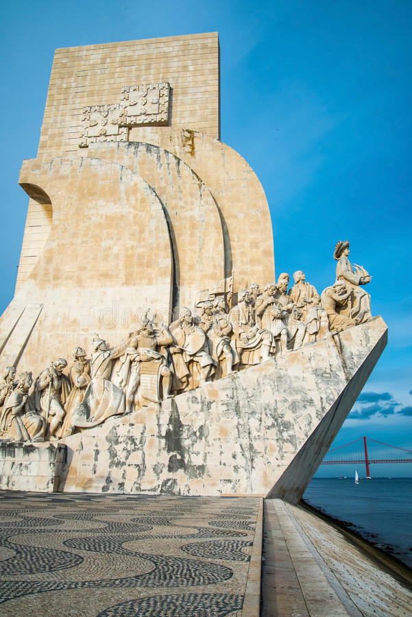 The Padrao dos Descobrimentos (Monument to the Discoveries) celebrates the Portuguese who took part in the Age of Discovery. It i royalty free stock photo