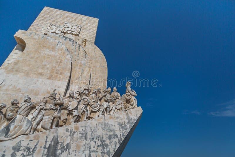 padraoen portugal för monumentet för räkneverket för DOS ganska höga lisbon för 52 1940 var den byggda descobrimentosupptäckter v royaltyfria bilder