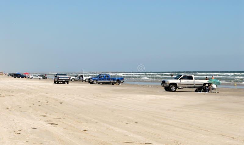 padre острова автомобилей пляжа стоковые фото