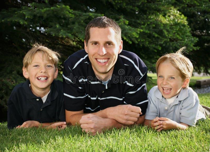 Padre & figli immagine stock libera da diritti