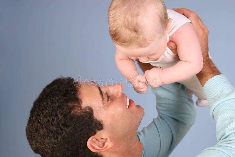 Padre con el bebé 2 foto de archivo libre de regalías