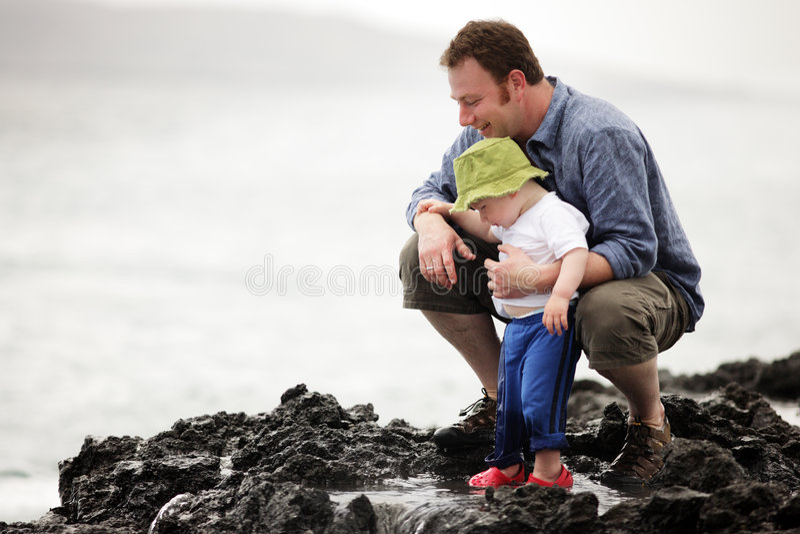 Padre con il figlio immagini stock