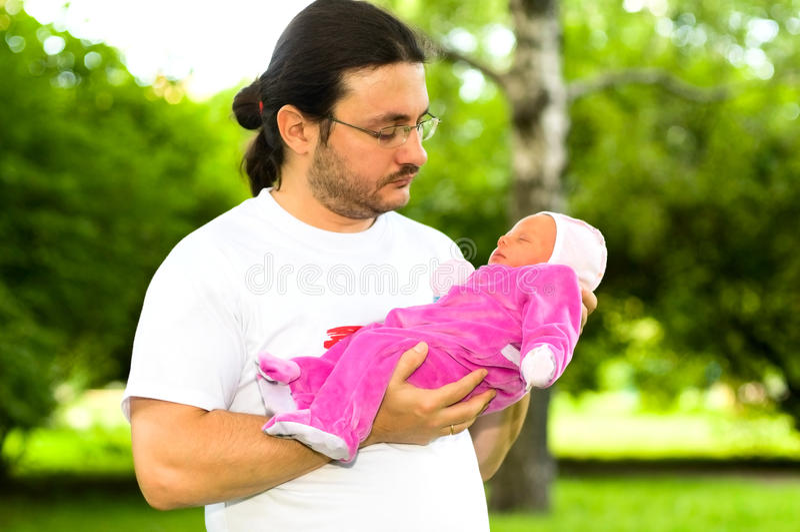 Padre con l'infante immagine stock libera da diritti
