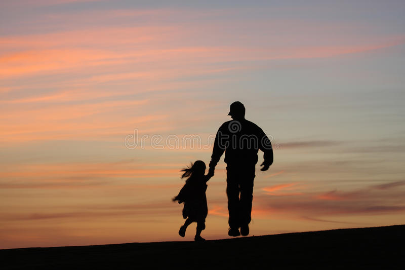 Padre con la hija imagenes de archivo