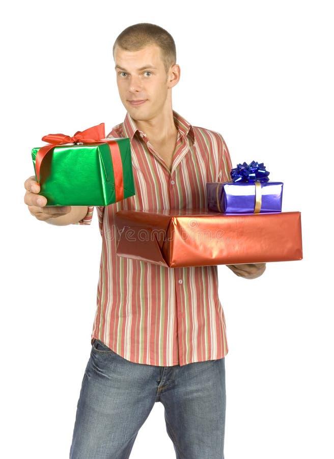 Padre con los regalos
