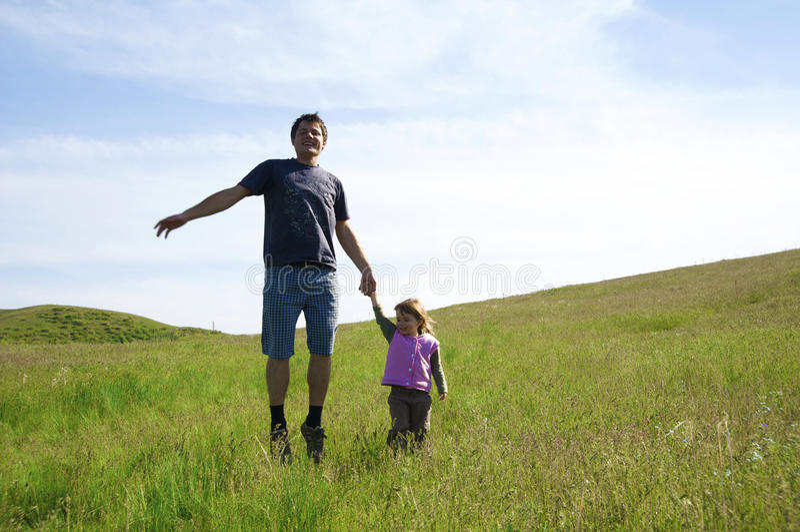 Padre con una figlia fotografie stock libere da diritti