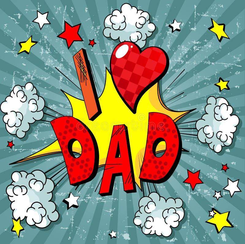Padre Day Background stock de ilustración