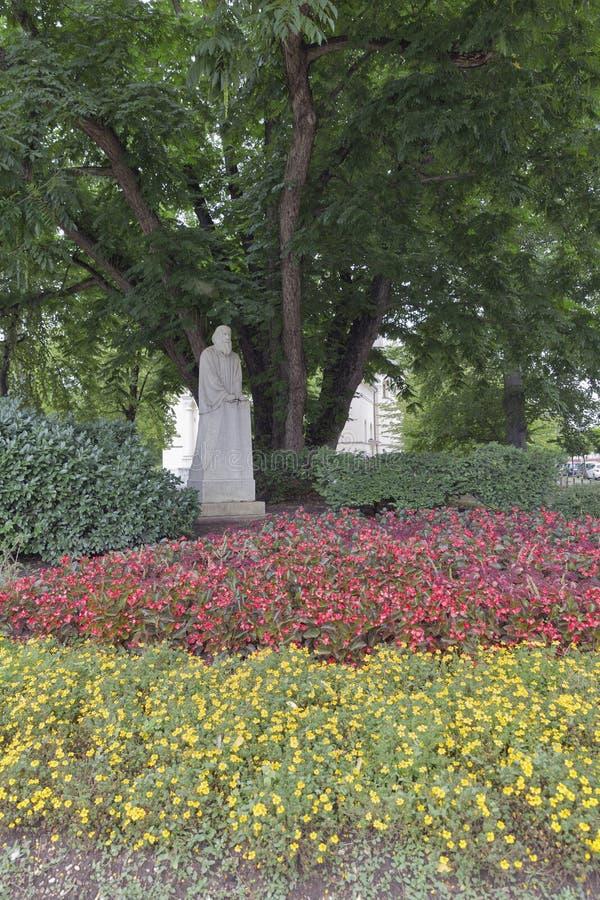 Padre del monumento esloveno de Trubar de la literatura en Ljubljana, Slove imagen de archivo libre de regalías
