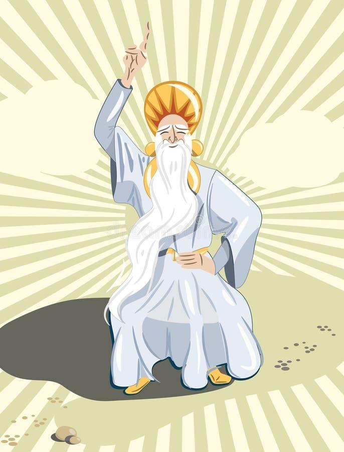 Padre do Druid ilustração stock