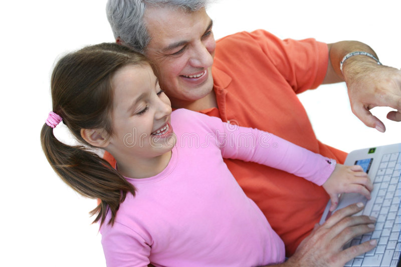 Padre e figlia felici fotografia stock libera da diritti