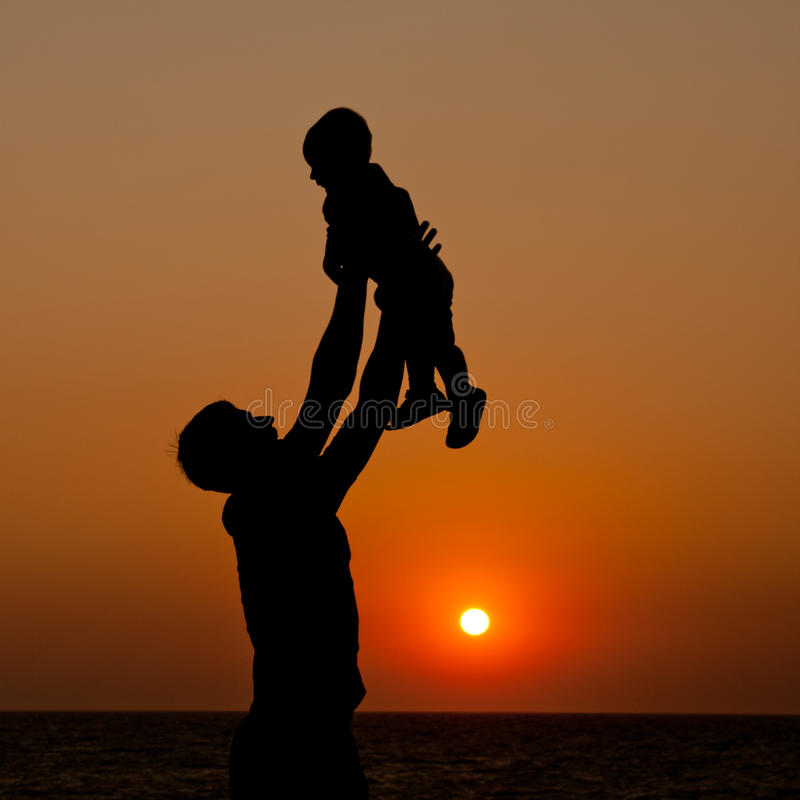 Padre e figlio fotografia stock libera da diritti