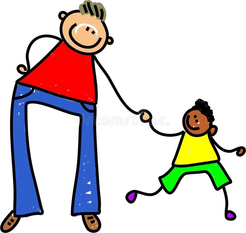 Padre e figlio illustrazione vettoriale