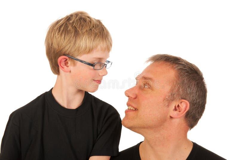 Padre e figlio del ritratto fotografie stock