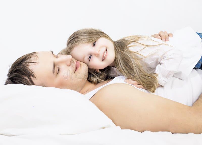 Padre e hija foto de archivo
