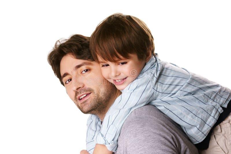 Padre e hijo imagenes de archivo