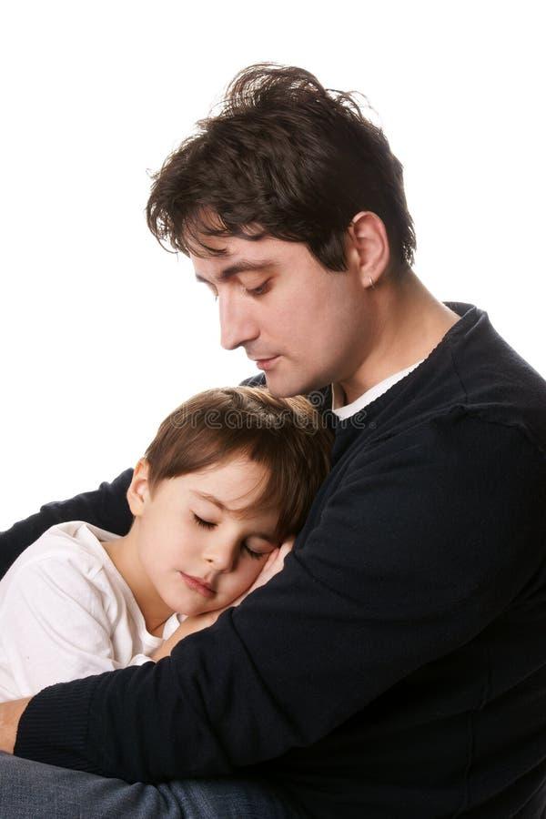 Padre e hijo fotografía de archivo libre de regalías