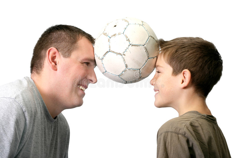 Padre e hijo - jugando foto de archivo